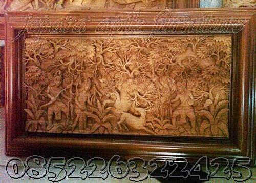 ukiran relief ramayana khas jepara
