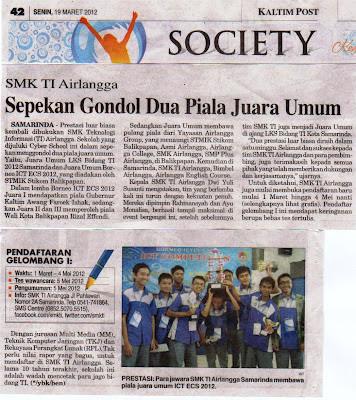 SMK TI Airlangga Samarinda: Maret 2012