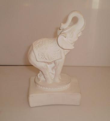 Fehér agyag elefánt