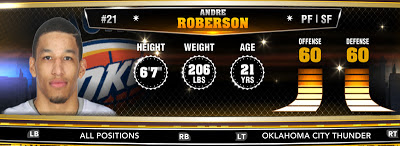NBA 2K13 OKC Andre Roberson - Round 1 26th Overall