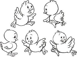 Dibujos de Pollitos para colorear e imprimir  Dibujos para Nios