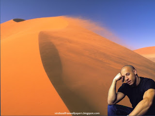 Desktop Wallpaper of Vin Diesel Thinking About New Action Movie Project at Wind Desert Desktop Wallpaper