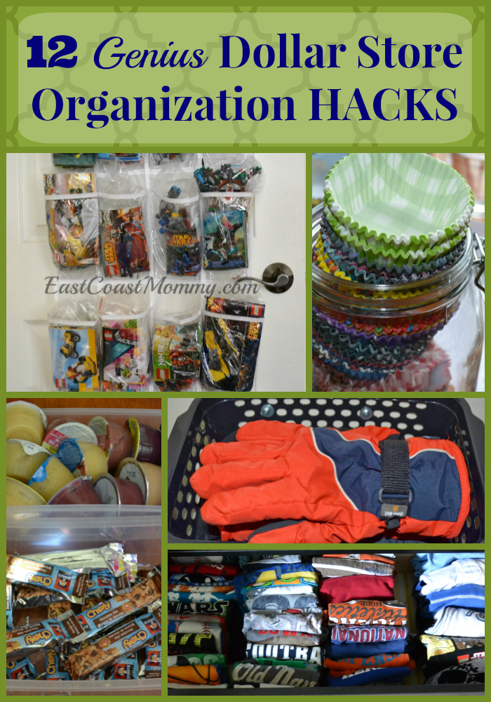 East Coast Mommy 12 Genius Dollar Store Organization Hacks