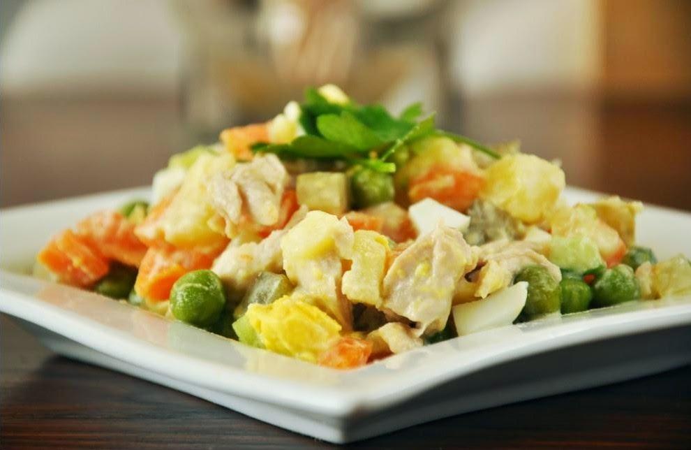 Recette de Salade de légume à vapeur