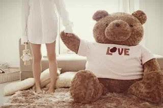 Boneka beruang love 1