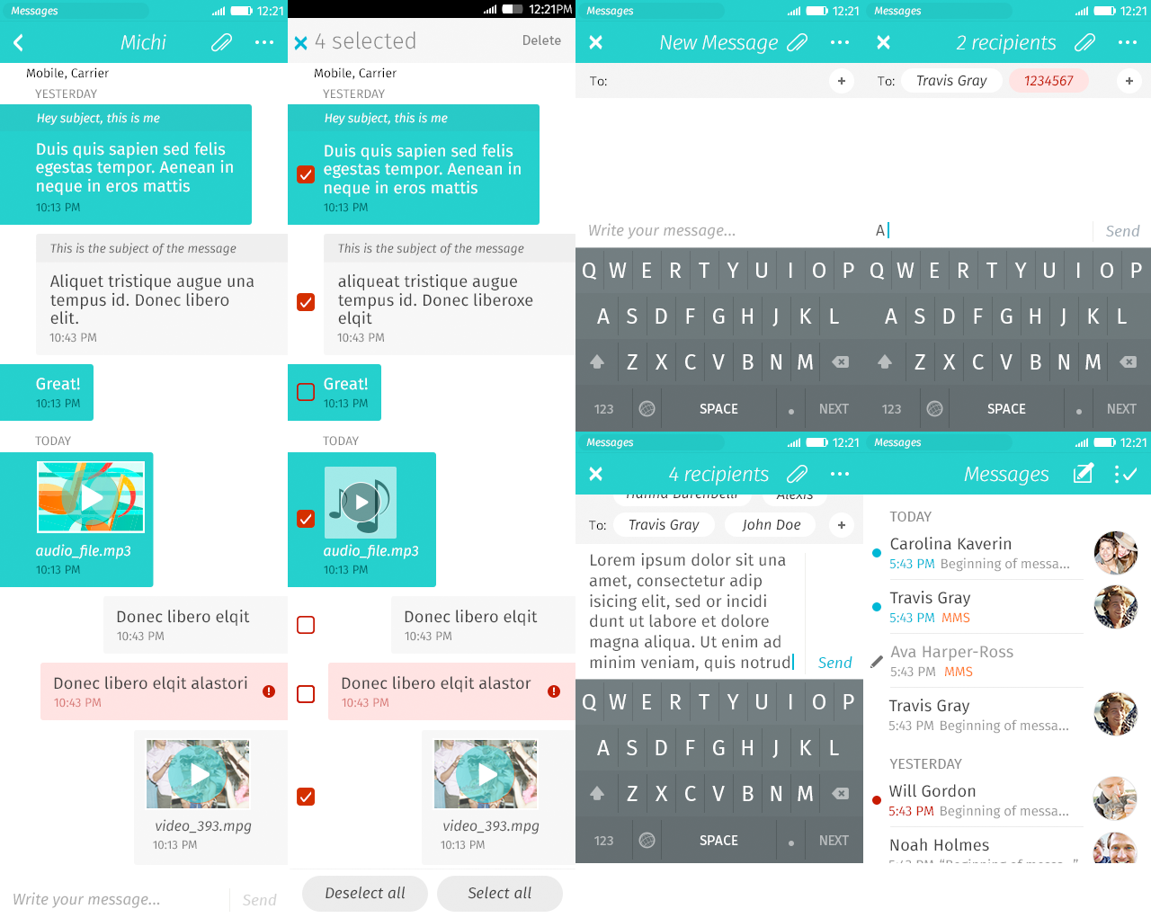firefoxos - An application to send messages and make conversations