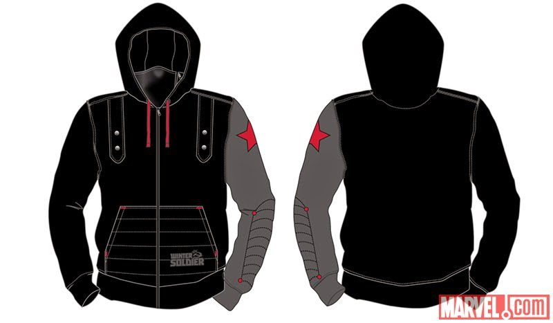 San Diego Comic-Con 2014 Exclusive Captain America: The Winter Soldier Hoodies by Marvel - The Winter Soldier Hoodie
