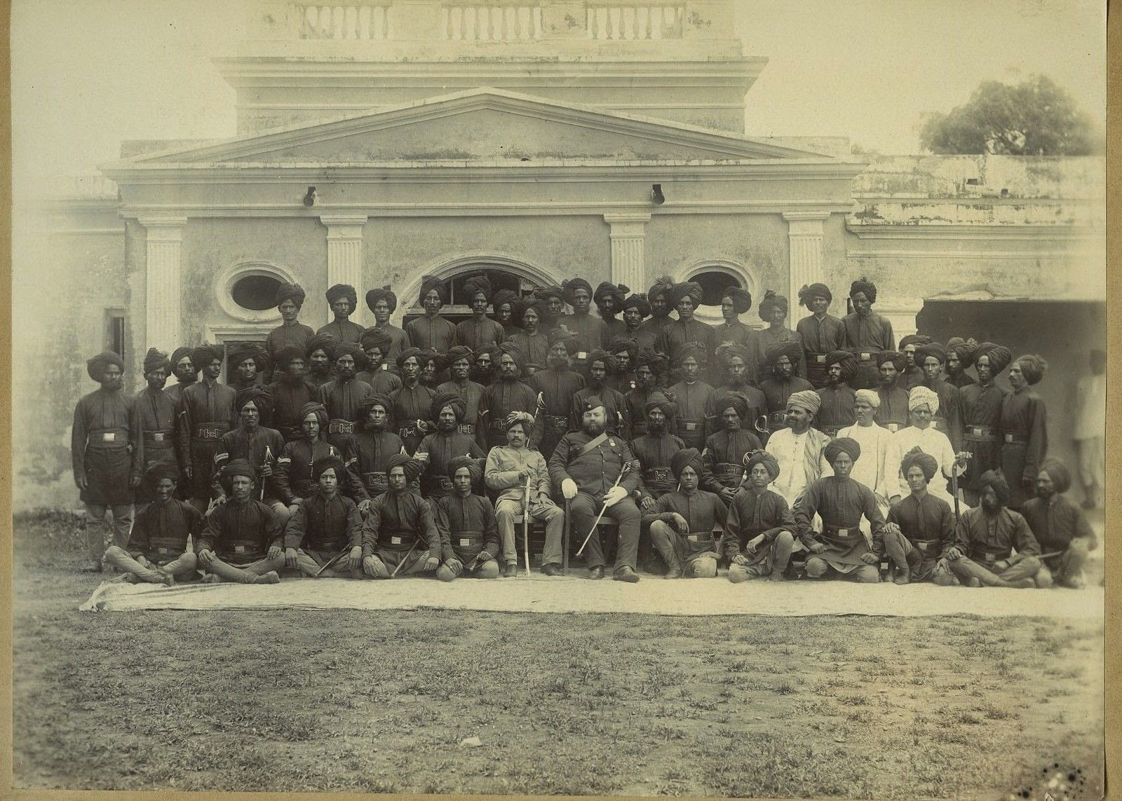 Group photo of Indian Men (Soldiers or Bodyguards) - c1900s