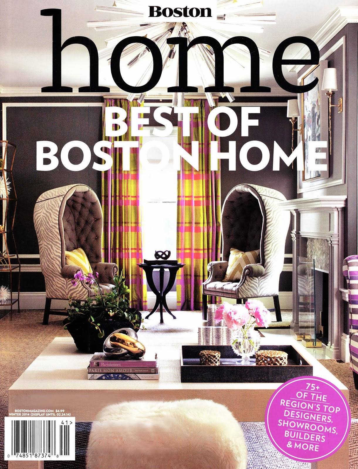 Boston Home Magazine January 2014