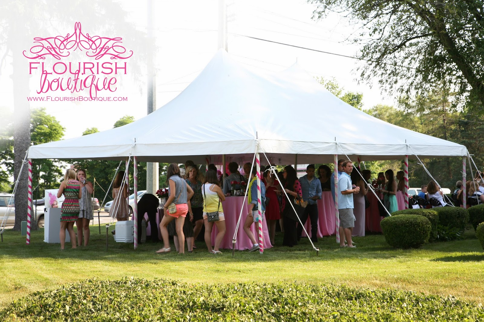 tent fashion show boutique
