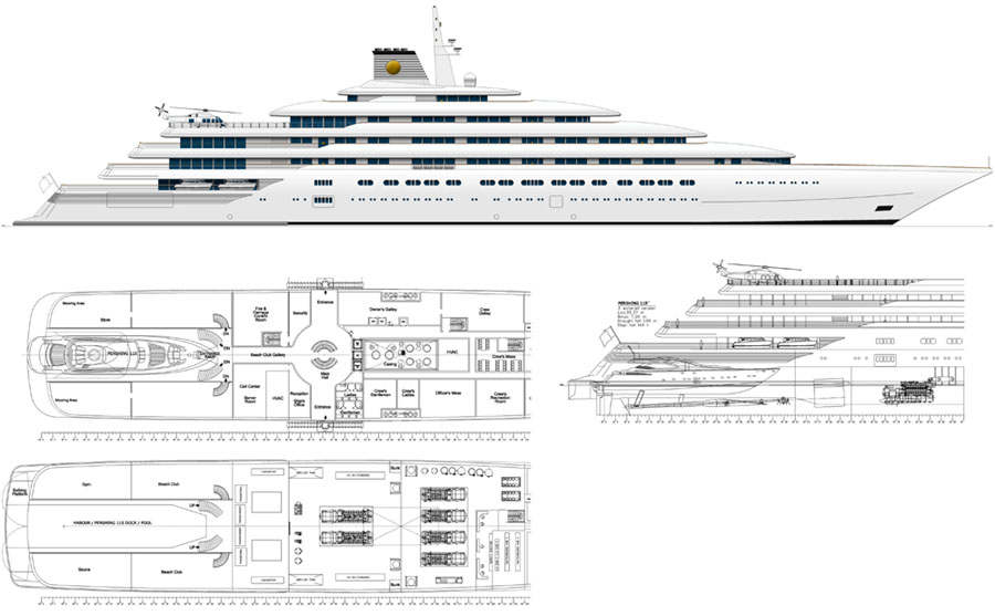 Megayacht Global Cruse Design 187m The Other Azzam Design
