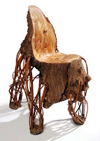 Upcycled chair made from nature.