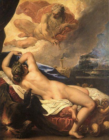 Semele e Giove, by Sebastiano Ricci