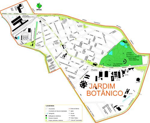 Mapa do Jardim Botânico - Curitiba