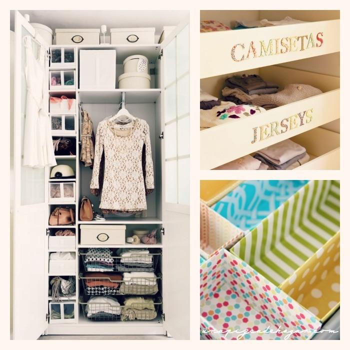 20 ideas para poner orden en casa decoraci n - Como ordenar un armario pequeno ...