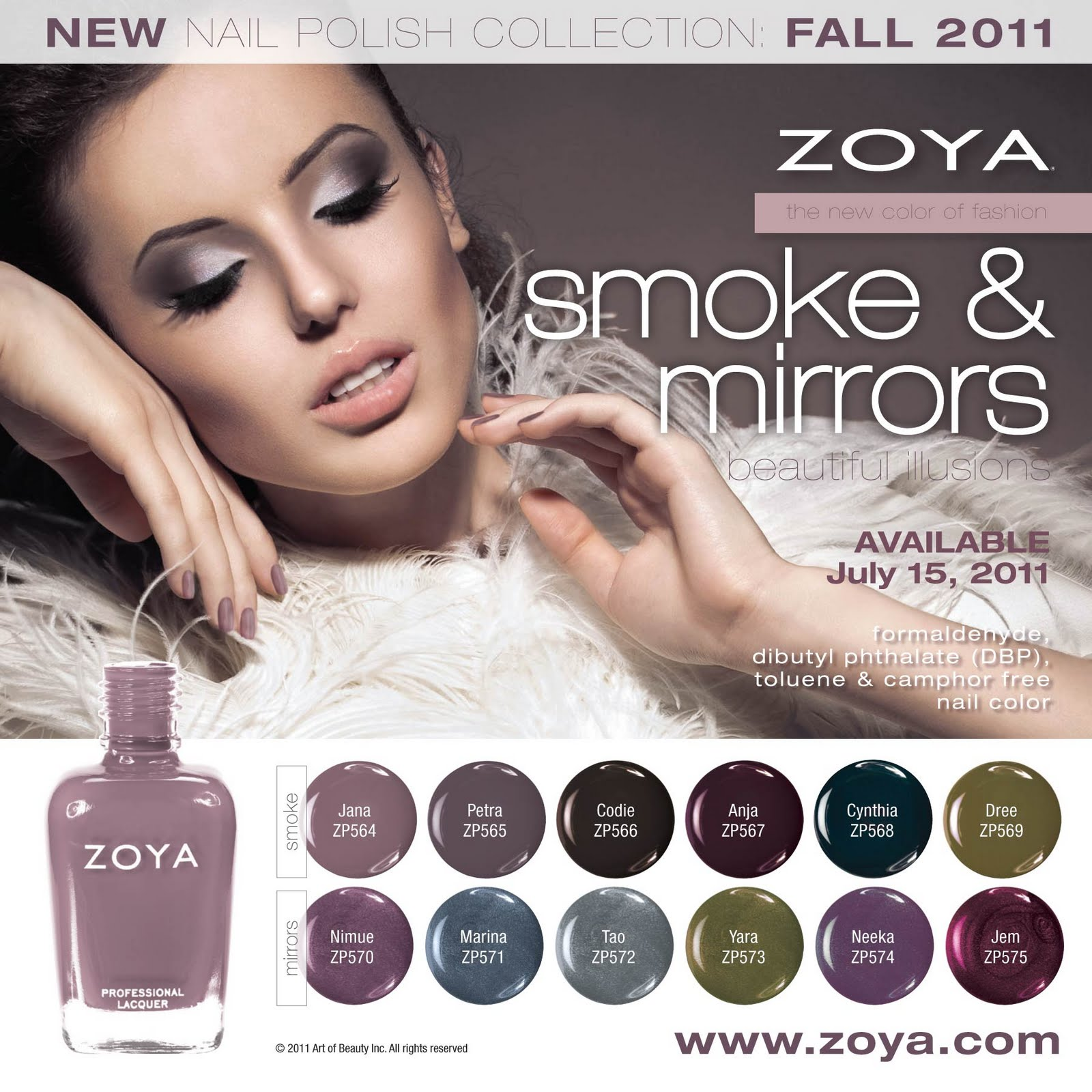 Zoya Nail Polish smoke and mirrors Fall 2011 Media Image web ... the star of MTV's Downtown Girls, before one of her press events.