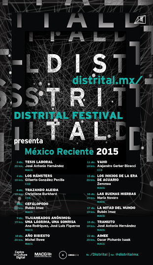 """El Festival de Cine Independiente DISTRITAL presenta """"México Reciente 2015"""""""