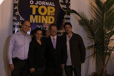 com os amigos na premiação Top of Mind