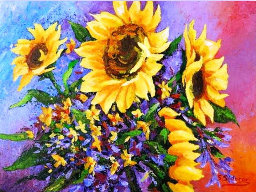 Cuadros modernos pinturas y dibujos bodeg n de - Fotos jarrones con flores ...