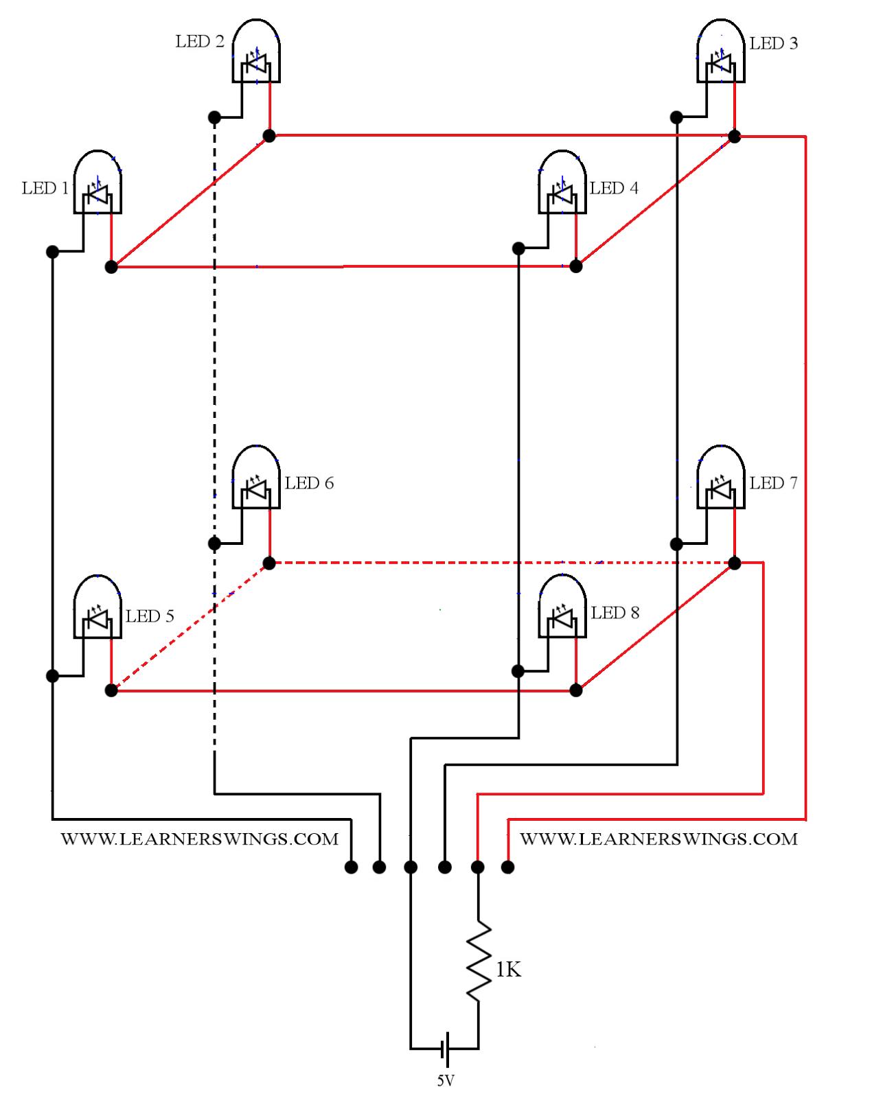 Modify Arduino Program for Turning on LED 8 of 2*2*2 LED ... on