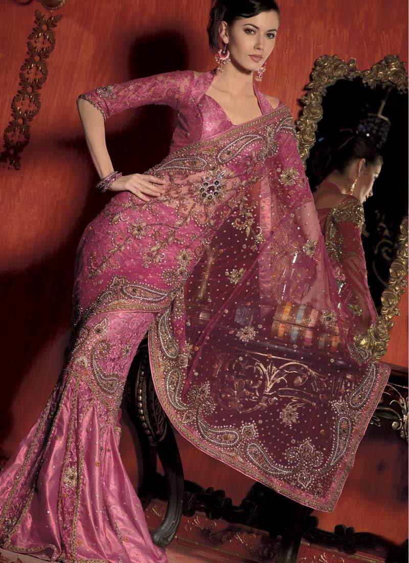 Various styles of sarees: