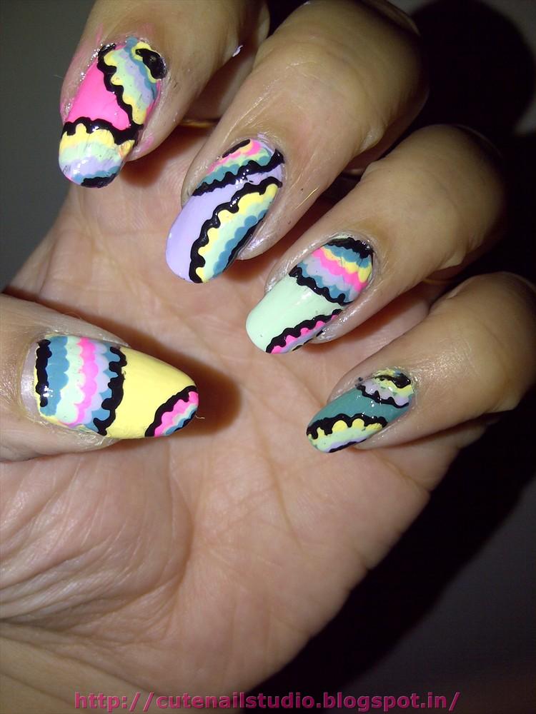 Cute Nails Psychedelic Nail Art
