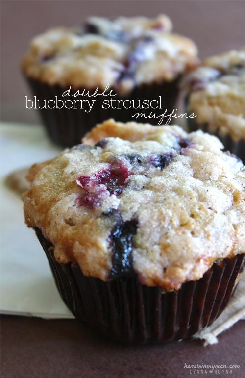 Hearts in My Oven: Browned Butter Blueberry Streusel Muffins