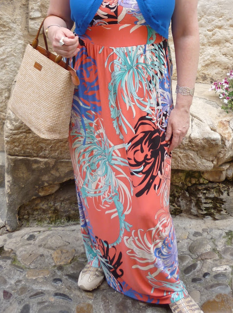 Close up of maxi dress