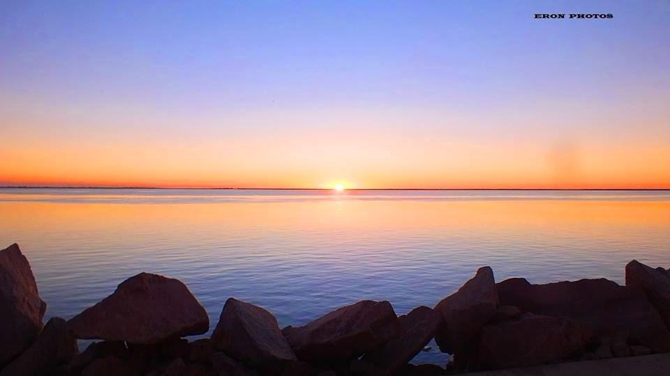 Sol nascendo na Praia do Cassino