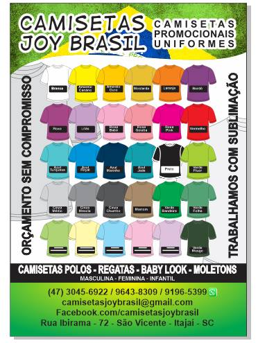 Camisetas Joy Brasil