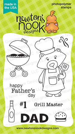 Winston's BBQ | 3x4 stamp set | Grilling & Father's Day |  Newton's Nook Designs