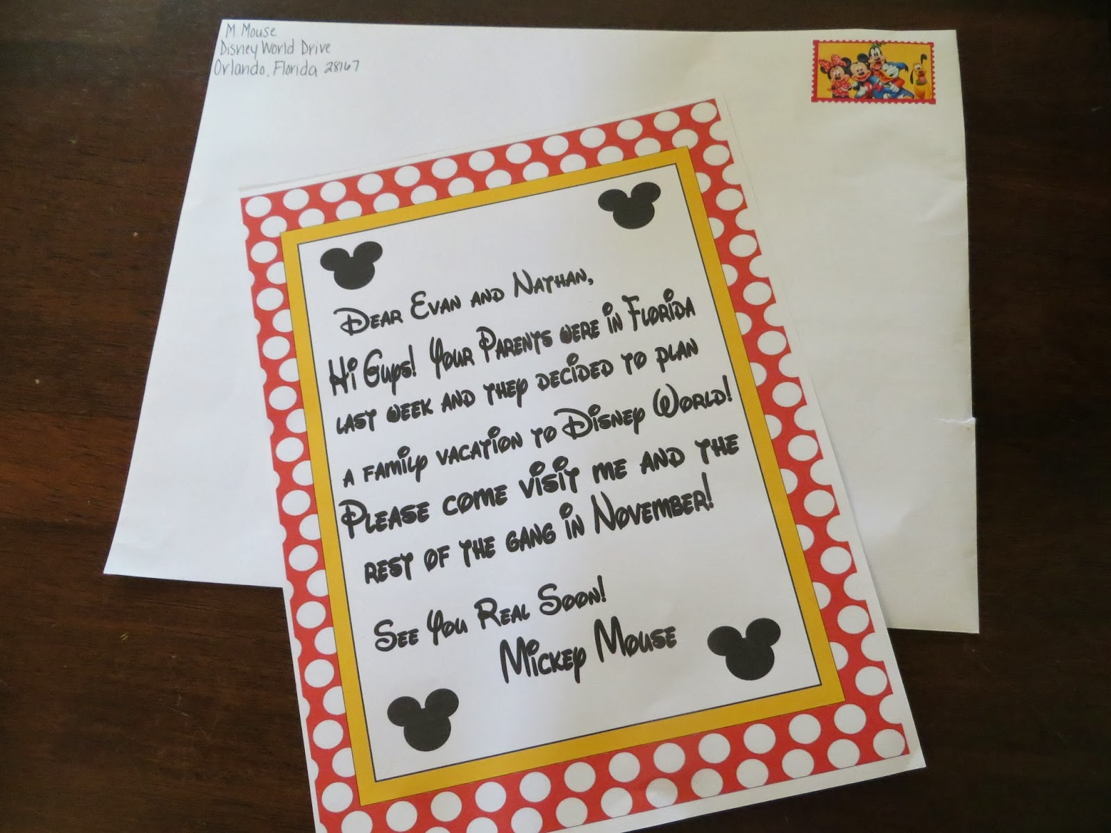 Two Magical Moms Invitation to Disney World