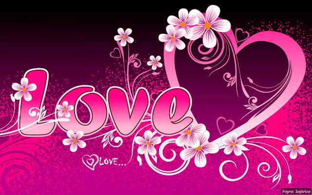 Corazón con flores  Wallpaper