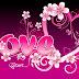 Fondo de pantalla     Corazón con flores