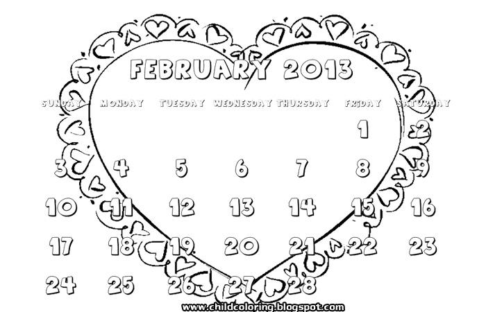 February 2013 Calendar title=