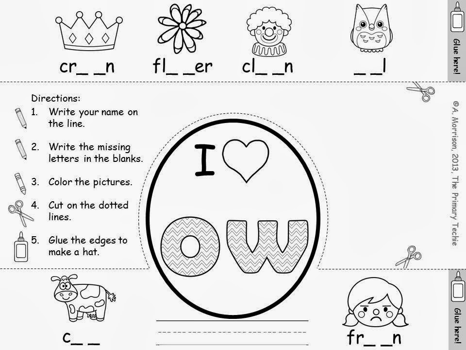 The Primary Techie Fun with OU and OW Ideas for learning new sounds – Ou Ow Worksheets