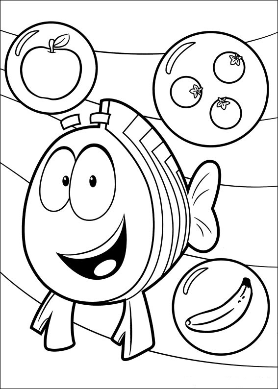 Fun Coloring Pages Bubble Guppies Coloring Pages