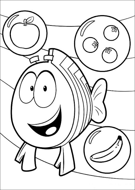 Fun coloring pages bubble guppies coloring pages for Bubble guppies coloring pages