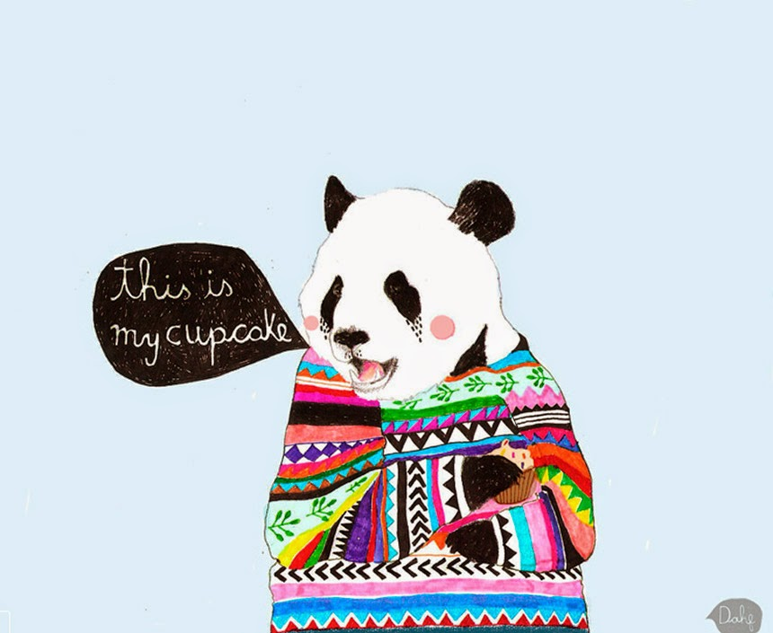 panda bear illustration by Daniela Dahf henriquez