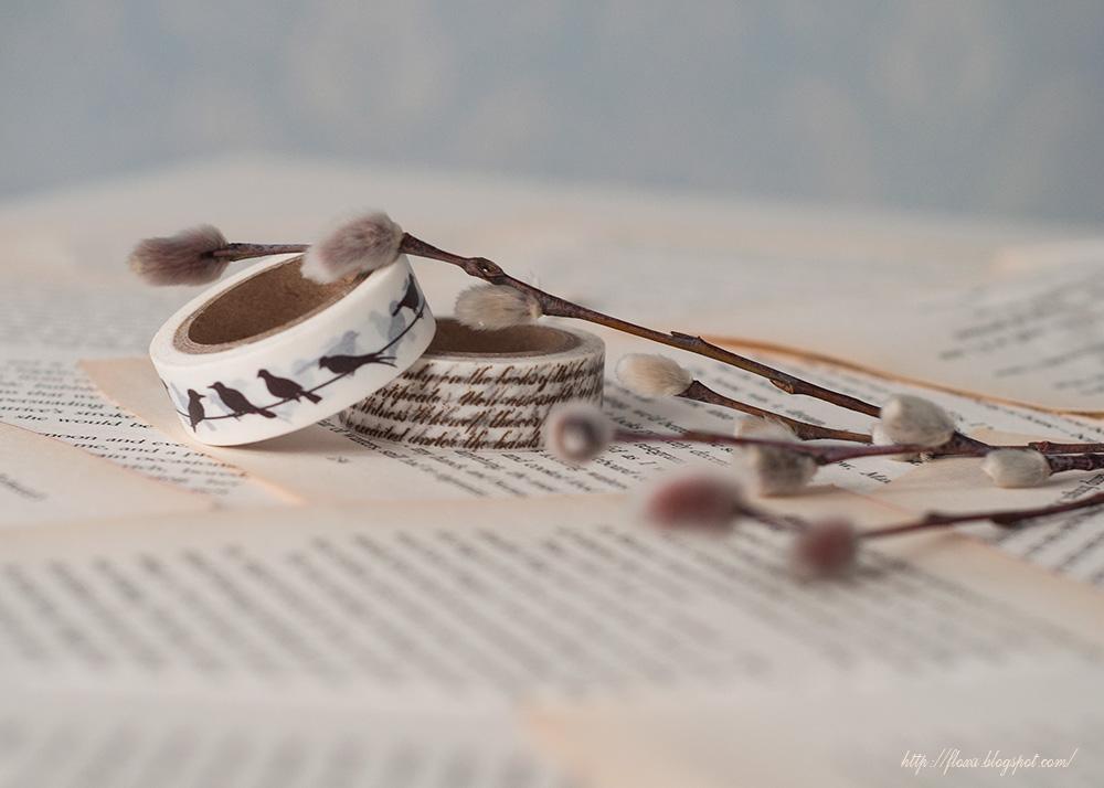 верба, декоративный скотч, фото винтаж