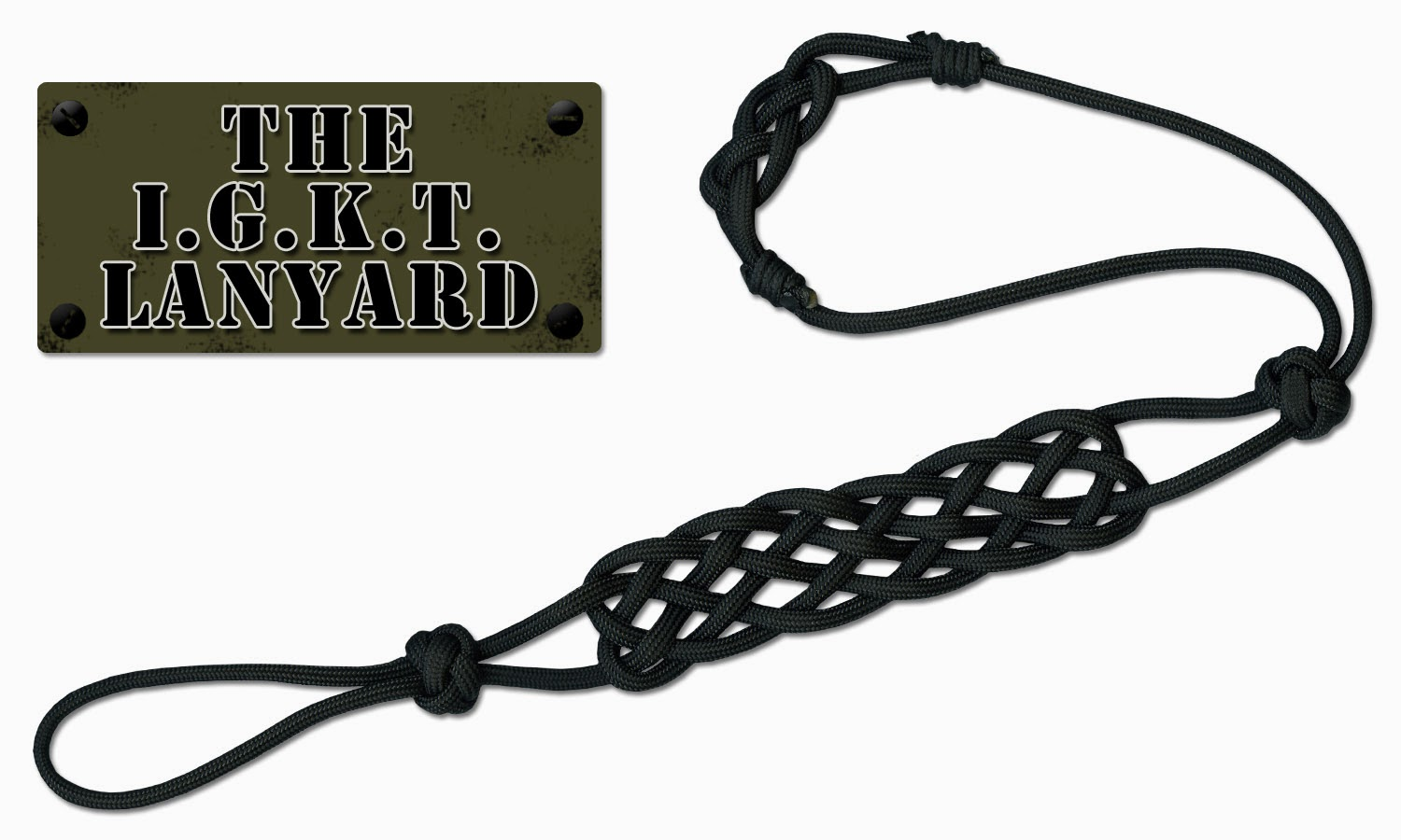 The IGKT Lanyard made by Joel Hooks - Pepperell Braiding Co.