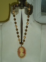 Goldtone Cameo Necklace