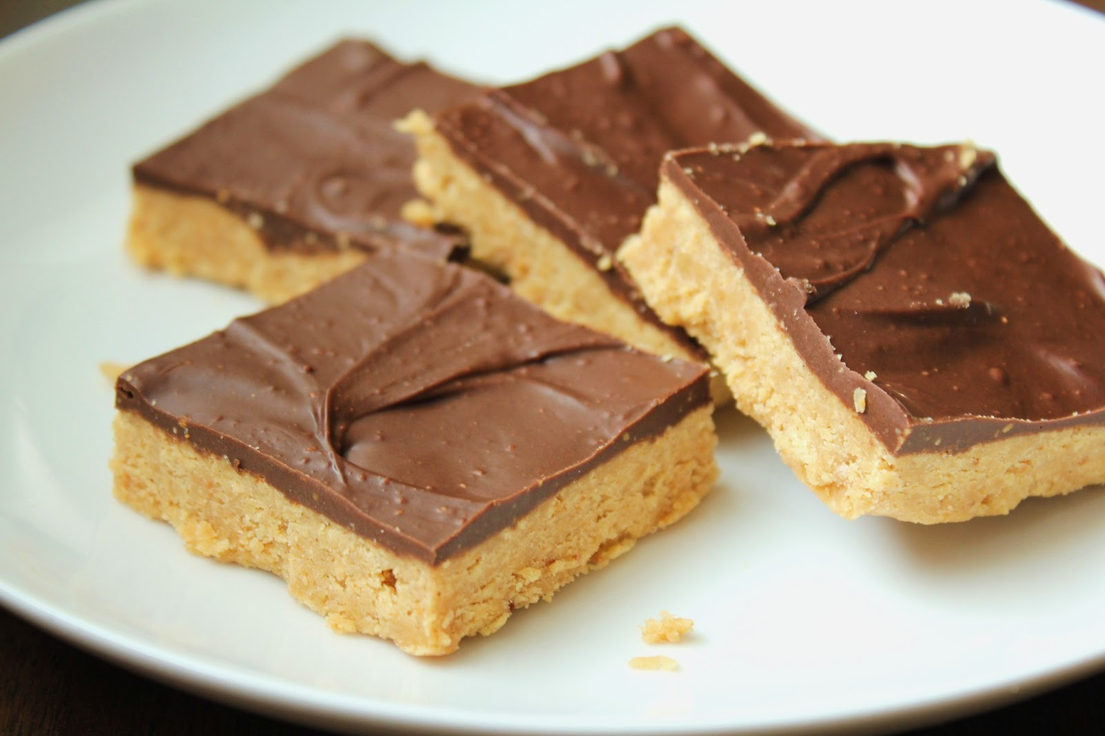 ... as it Looks: Low-Fructose Chocolate Peanut Butter Bars (Gluten-Free
