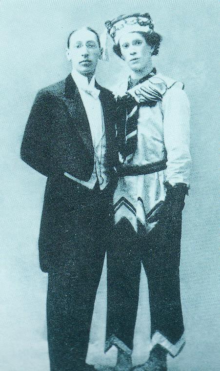 Igor STRAVINSKY (1882-1971) e Vaslav NIJINSKY  (1889-1950), na sua primeira apresentação do balé Pe