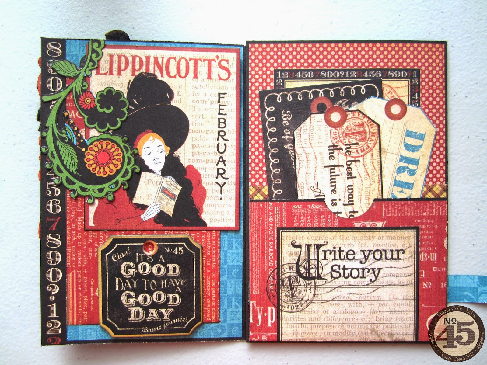 Paperiah: Graphic 45 Typography Card Tutorial