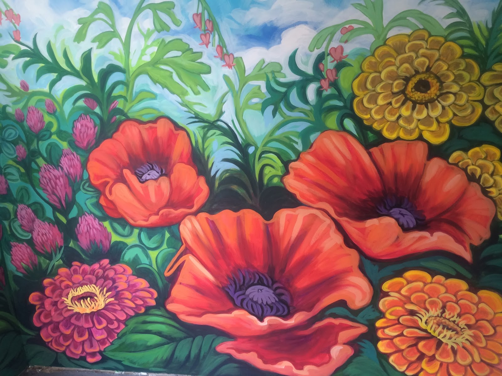 The talking walls may 2015 for Mural of flowers