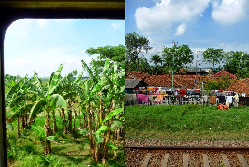 Voie ferrée entre Jakarta et Yogyakarta