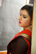 Archana veda in red saree photos-thumbnail-18