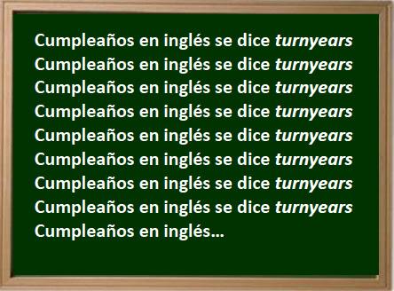 En ingl s se dice turnyears - Habitacion en ingles como se escribe ...