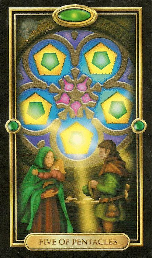 Resultado de imagem para 5 of pentacles tarot